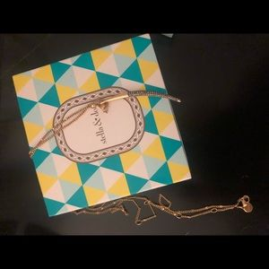 Stella and dot new moon long necklace